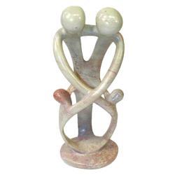 Soapstone Loving Family Embrace Sculpture , Handmade in Kenya
