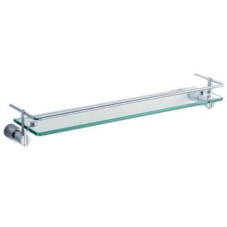 Fresca Magnifico 21-inch Glass Shelf with Railing