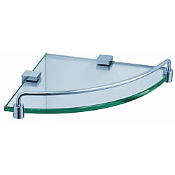Fresca Corner Glass/ Chrome Shelf