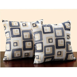 Square Print 18-inch Throw Pillows (Set