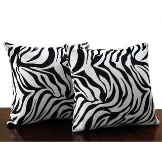 Zebra Print Throw Pillows (Set of 2)