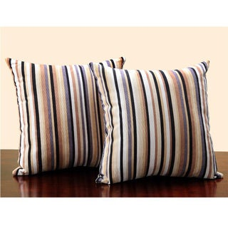 Tribecca Home Stripe Print 18-inch Throw Pillows (Set of 2)