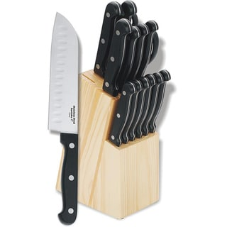 Bakelite Handle 15-piece Knife Block Set