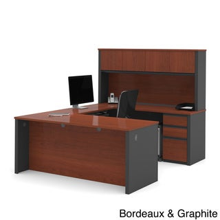 Bestar Prestige+ Commercial Grade U-shape Hutch And Desk