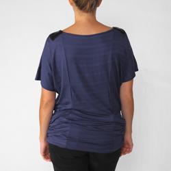 California Bloom Women's Beaded Neck Silky Knit Top