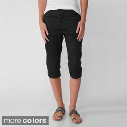 In Moda Women's Belted Capri Pants