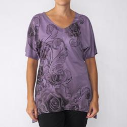 California Bloom Women's Sublimation Print V-neck Top