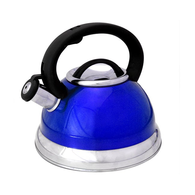 Alpine cuisine metalic blue 3 qt stainless steel for Alpine cuisine tea kettle