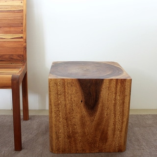 Wooden Cube 18 Walnut Oil End Table (Thailand)