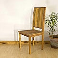 Teak Wood Tung Oil Finish Inlaid Dining Chair (Thailand)