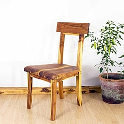 Teak Wood Tung Oil Finish Open Back Dining Chair (Thailand)