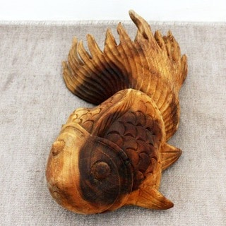Acacia Wood Tung Oil Finish Puff Fish (Thailand) (Left Side Only)