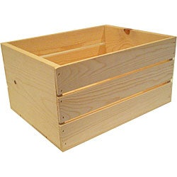 Heavy-duty 18-inch Unfinished Pine Crate
