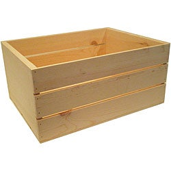 Heavy-duty 20-inch Unfinished Pine Crate