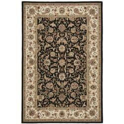Safavieh Hand-hooked Chelsea Tabriz Black/ Ivory Wool Rug (5'3 x 8'3)