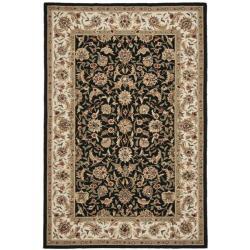 Safavieh Hand-hooked Chelsea Tabriz Black/ Ivory Wool Rug (6' x 9')