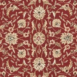 Safavieh Hand-hooked Chelsea Tabriz Burgundy/ Ivory Wool Rug (7' 9 x 9' 9)