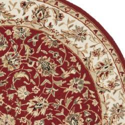 Safavieh Hand-hooked Chelsea Tabriz Burgundy/ Ivory Wool Rug (8' Round)