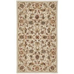 Hand-hooked Chelsea Tabriz Ivory Wool Rug (2'9 x 4'9)