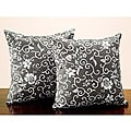 Dark Olive Flora 18-inch Throw Pillows (Set of 2)