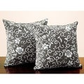 Tribecca Home Dark Olive Flora 18-inch Throw Pillows (Set of 2)