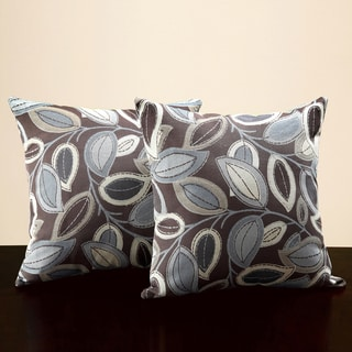 Tribecca Home Leaves 18-inch Throw Pillows (Set of 2)
