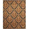 Hand-tufted Serena Brown Oriental Wool Rug (5' x 8')