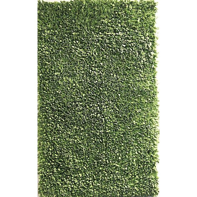 Soft Cotton Sage Green Shag Rug (3'6 X 5'6)