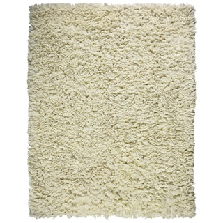 Cream Cotton Shag Rug (3'6 x 5'6)