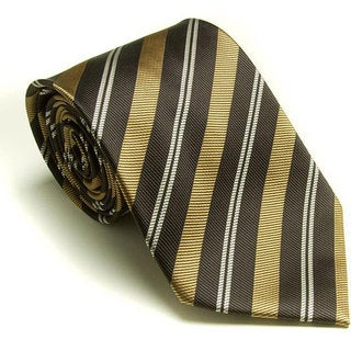 Platinum Ties Men's 'Brown Banister' Tie