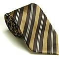 Platinum Ties Men's 'Brown Banister' Tie