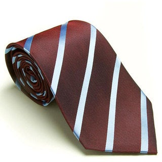 Platinum Ties Men's 'Burgundy Avenue' Tie