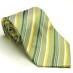 Platinum Ties Men's 'Meadow Gold' Tie