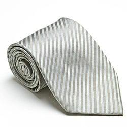 Platinum Ties Men's 'Silver Mood' Tie