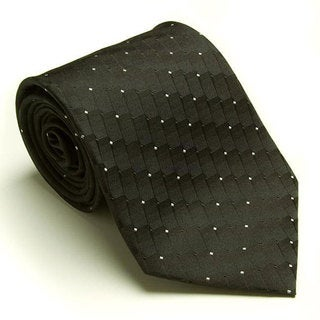Platinum Ties Men's 'Black Dial' Tie