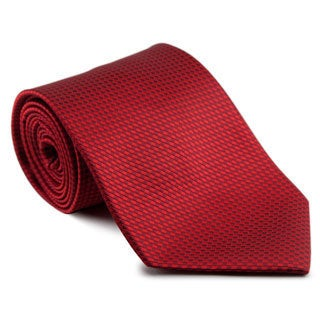Platinum Ties Men's 'Red Weave' Tie