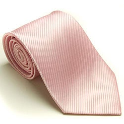 Platinum Ties Men's 'Pink Weave' Tie