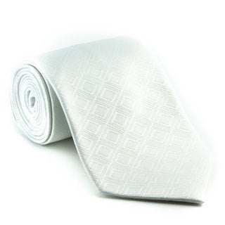 Platinum Ties Men's 'White Out' Tie