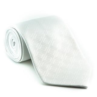 Platinum Ties Men's 'White Out' Tie