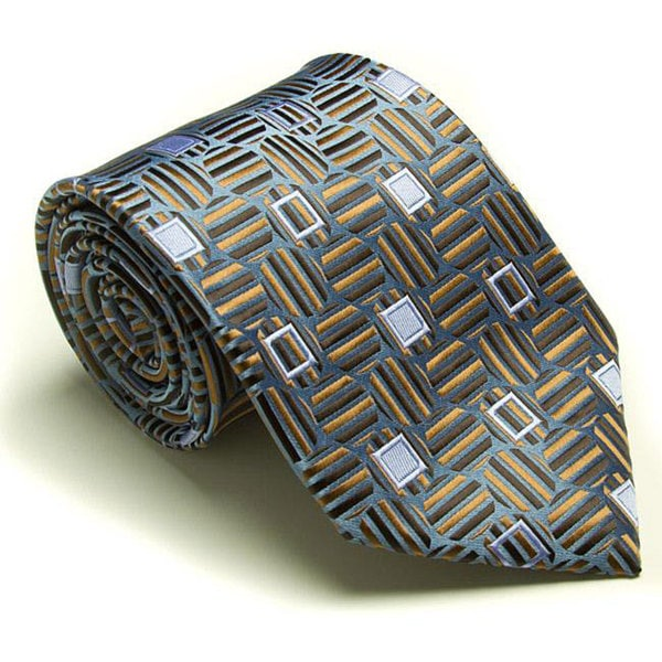 Platinum Ties Men's 'Blue Casual' Tie