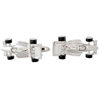 Cuff Daddy Race Car Rhodium Plated Cuff Links