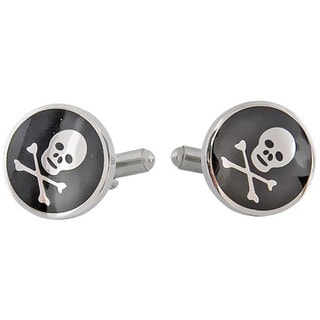 Cuff Daddy Stainless Steel Skull Cuff Links