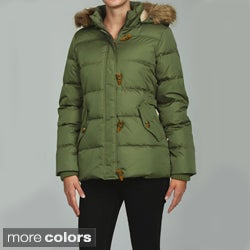Tommy Hilfiger Down Filled Toggle Coat With Faux Fur Trim