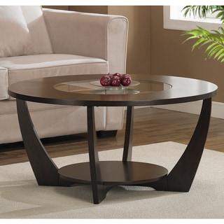 Archer Espresso Coffee Table with Shelf