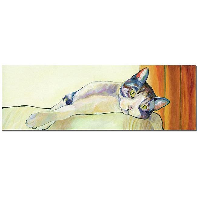Pat Sanders-White 'Sunbather' Canvas Art