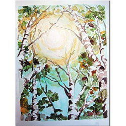 Wendra 'Birch Tree' Canvas Art