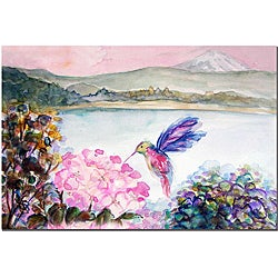 Wendra 'Hummingbird's Joy' Canvas Art