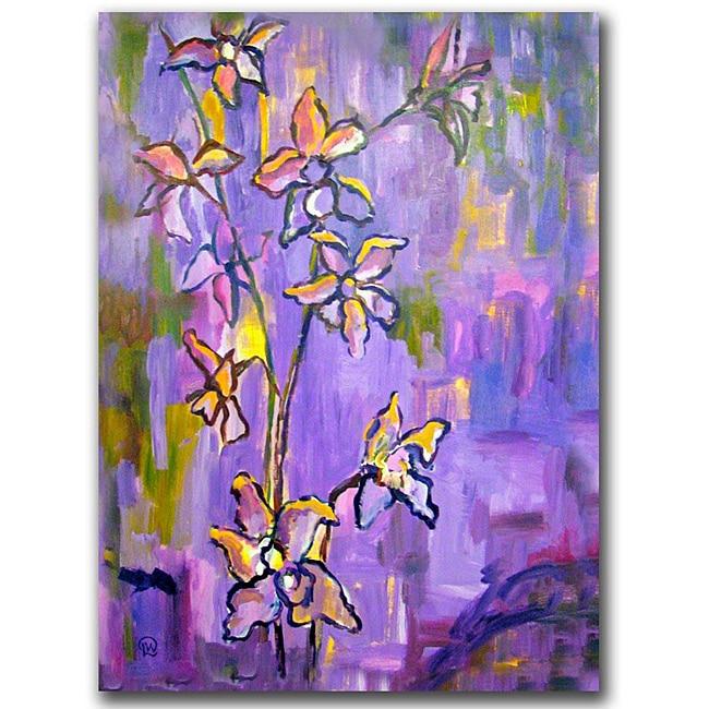 Wendra 'Purple Orchids' Canvas Art