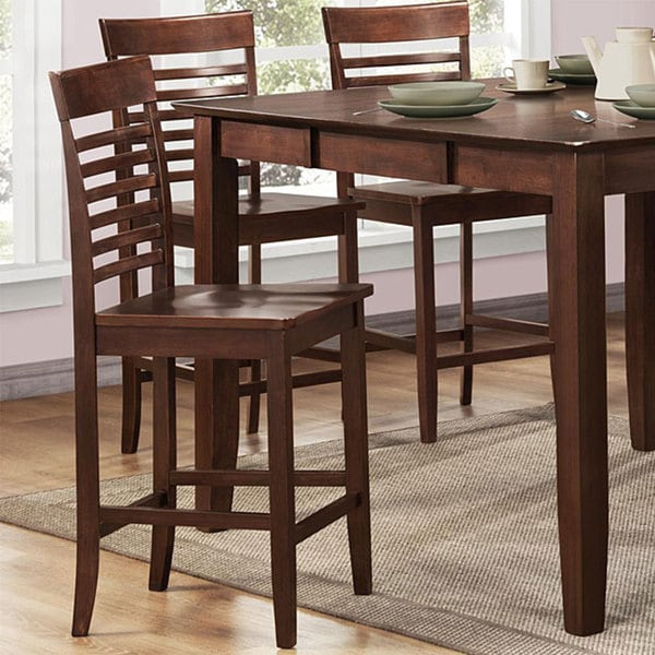 Moulins Asian Wood Dark Brown Chairs (Set of 2)