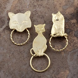 SPEC Pin Gold-plated Cat Glasses Holder (Set of 3)